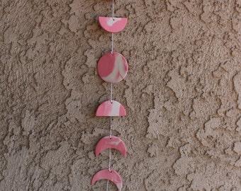 Pink Moon Phase Wall Hanging (Boho Baby)
