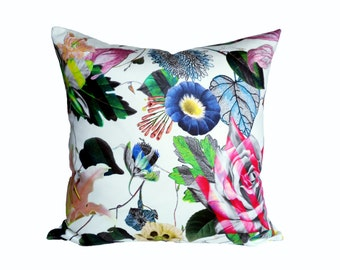 Christian Lacroix Malmaison Opiat (White) -  Designer Pillow Cover - 1 SIDED OR 2 SIDED - Made to Order - Choose Your Size