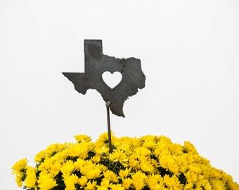 Texas State Heart Garden Art State Stake