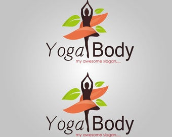 Yoga Body Tree Pose Logo
