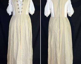 Stockerpoint Dirndl Dress Kleid M 38 vintage Linen Peasant Folk Octoberfest