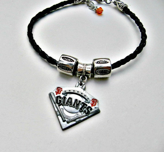 Baseball Charm Bracelet: SF Giants Baseball Bracelet SF Giants Jewelry San Francisco