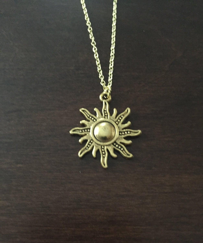 Sun Necklace Sun Gold Sun Necklace Sun Jewelry Sun