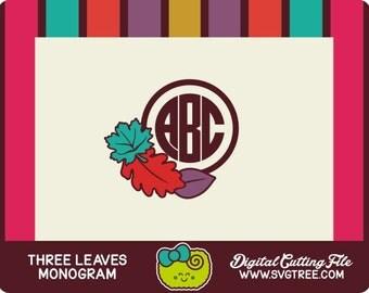 Thanksgiving SVG Thanksgiving Monogram Fall Monogram SVG Autumn svg Fall SVG Vector Art Cricut Files Silhouette Files Digital Files