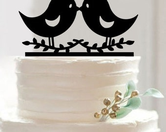 """Silhouette """"Love Birds"""" Wedding Cake Topper - Cake Toppers from Bakell WCT111"""