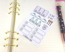 Meal Planning Sampler Sheet; Filofaxing; Erin Condren; Cute Stickers; Inkwell Press; Blank Stickers; Meal Planning Stickers; Food; ECLP