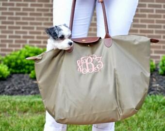 Monogrammed Tote Bag | Large Nylon Weekender Travel Bag | Birthday, Bridesmaids, Mother's Day, Graduation, Christmas, Sorority