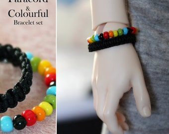 SALE Paracord and Colourful Bracelet set for SD BJD