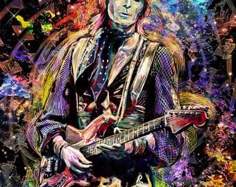 David Bowie Art, Ziggy Stardust Original, Bowie Painting Print