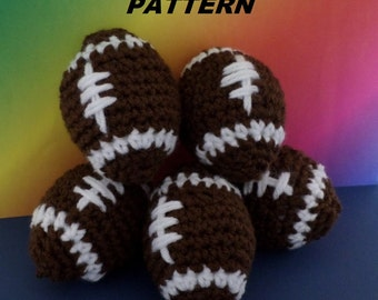 PATTERN Mini Football Crocheted