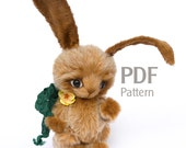 "PDF pattern artist teddy bunny Vito 6.1"", ePattern, Instant Download, sewing pattern, bunny pattern, artist rabbit pattern"