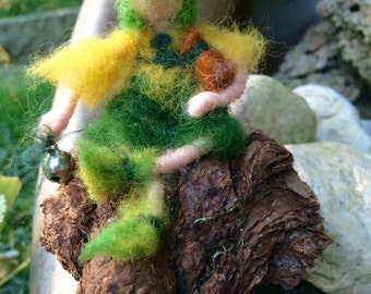Small Peter Pan in miniature, in waldorf style,made to order