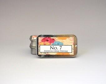 No. 7 Solid Crème Perfume, Solid Perfume, Oil Perfume, Perfume Oil, Essential Oil Perfume, Natural Perfume, Essential Oil Perfume