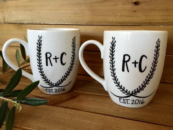 Personalized Coffee Mugs Wedding Gift : personalized coffee mug . wedding gifts . engagement gifts . coffee ...
