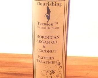 Moroccan Argan Oil & Coconut Protein Treatment 8oz.