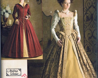 Size 6-12 Misses' Costume Dress Sewing Pattern - Elizabethan Dress Pattern - Shakespeare Dress - Theatrical Costume Simplicity 3782