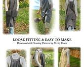 Easy Smock Frock / downloadable / sewing pattern/ plus size XXL / XL / large / medium / PDF / digitel / epattern by Verity Hope