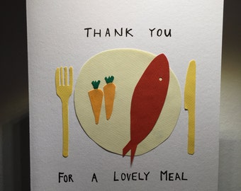 Thank you card for a meal / dinner