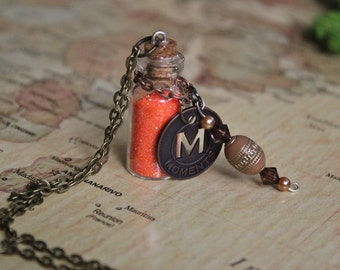 Orange Moments Token Necklace