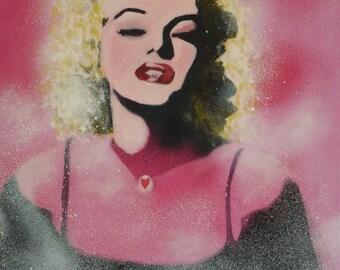 Marilyn Monroe, print, card, painted by Karmen