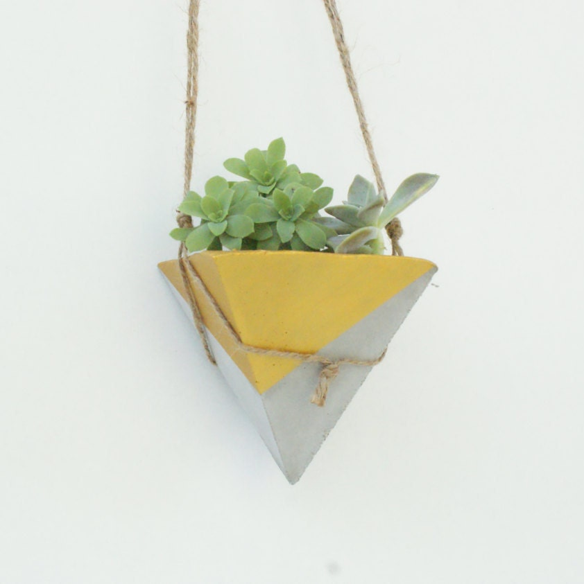 Modern Planters concrete planter / modern planters / home decor / hanging