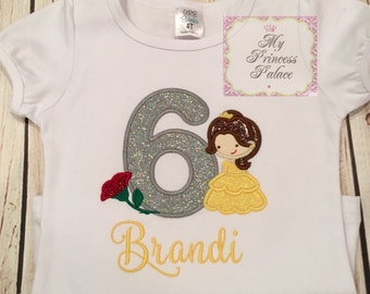 Personalized Princess Birthday Shirt