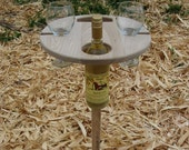 Folding Outdoor Wine Table - Clear Finish