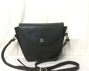 Evane Black Leather Purse,bag, Shoulder Bag