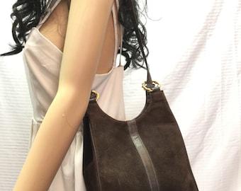 Morris Moskowitz suede leather purse, Bag, Purses, Brown, Suede, Leather, Shoulder Bag