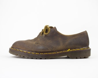 Vintage 90s Doc Martens Oxford Shoes | Made in England | Crazy Horse Three Hole Shoe | Mens Size US 10.5 UK 10 Euro 43 - 44