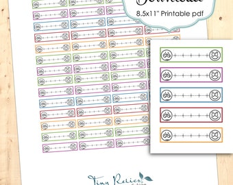 Printable Mood Meter Stickers for Planners & Calendars