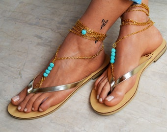 Leather women flip flops, leather sandals, V strap sandals, thong sandals, boho sandals