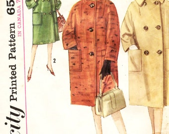 Simplicity 5149 Misses Single and Double Breasted Coat Sewing Pattern