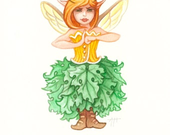 Belle I. Gerent print, Seasonal Distemper, fairy art