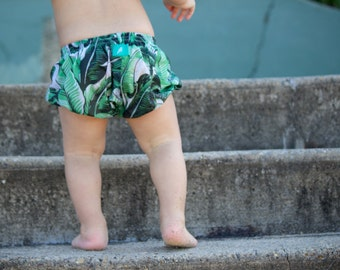shorts,Bloomers, Baby bloomers, toddler baby boy, baby girl, green leaf spring bloomers