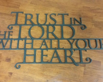 Trust in the Lord Wall Hanging - Coffee Brown