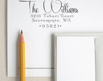 Custom Name Return Address Custom address Calligraphy Stamp Handle Mounted Rubber Stamp Or Pre-inked Stamp Self inking stamp RE807