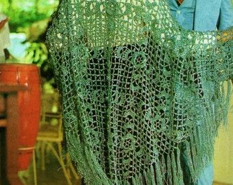 Irish Crochet Hooded Shawl Vintage Crochet Instant Download Pattern