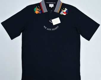 Castelbajac Shirt Men Large Castelbajac Polo Shirt Men Castelbajac Navy Blue Polo T Jean Charles de Castelbajac Shirt