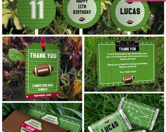 Football Invitation & Party Decorations - Football Party Package - Football Birthday - Instant Download - EDIT and print using Adobe Reader