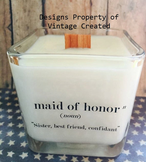 NEW Maid Of Honor Soy Candle Bridal Gift Ideas By
