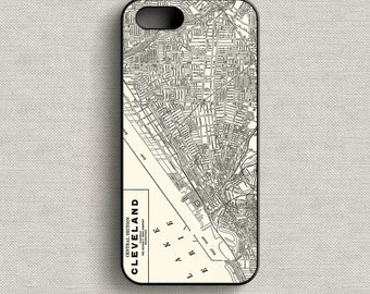 Vintage Map of Cleveland Ohio Phone Case iPhone 5 5C 6 6+