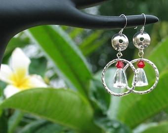 Swarovski Crystal Dangle earrings Sterling silver earwires