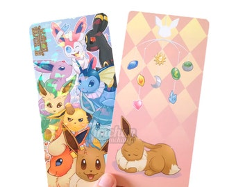 Eevee and Eeveelutions - Prismatic double-sided bookmark