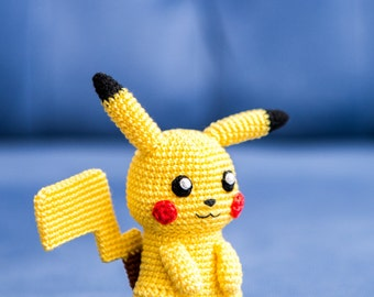 "Crochet Pattern of Pikachu from ""Pokemon"" (Amigurumi tutorial PDF file)"