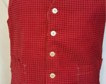 FREE  SHIPPING  1970 Retro Vest
