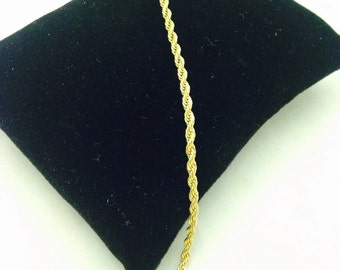 Vintage Trifari Tagged Gold Plated Twisted Woven Bracelet