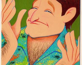 ROBIN WILLIAMS Caricature likeness.