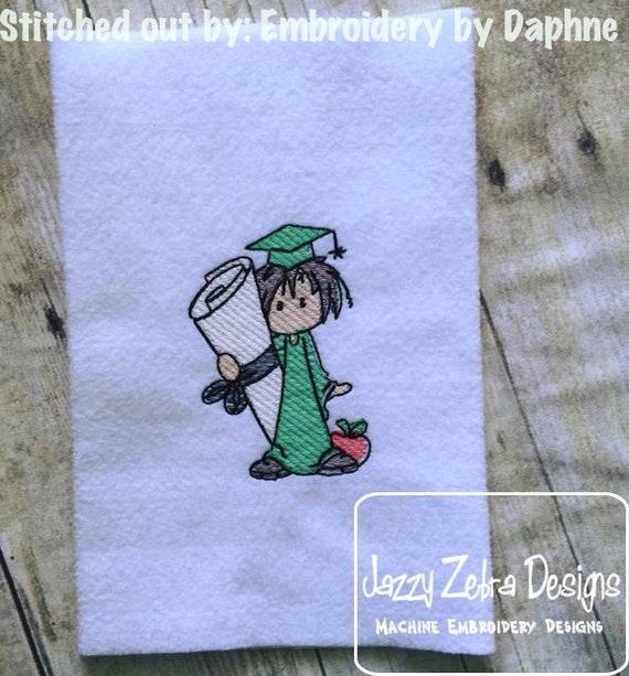 Deacon Graduation Sketch Embroidery Design - boy Sketch Embroidery Design - school Sketch Embroidery Design - graduate Sketch Embroidery