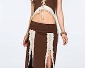 Tribal Gypsy dancer long skirt Fairy outfit Goa Burning Man style alternative clothing